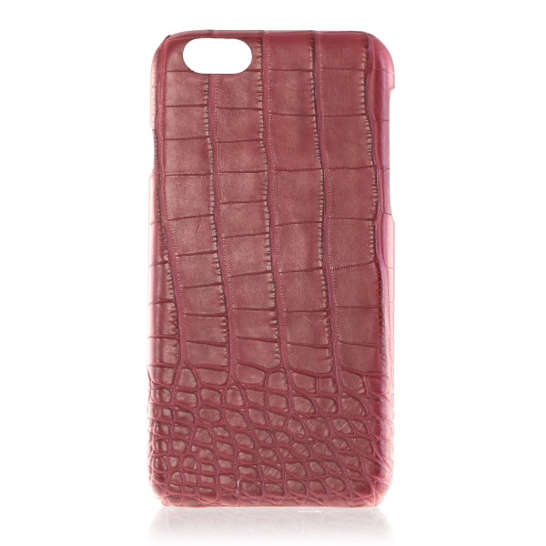 2 ME Style - Cover Croco Bordeaux - iPhone 6/6S