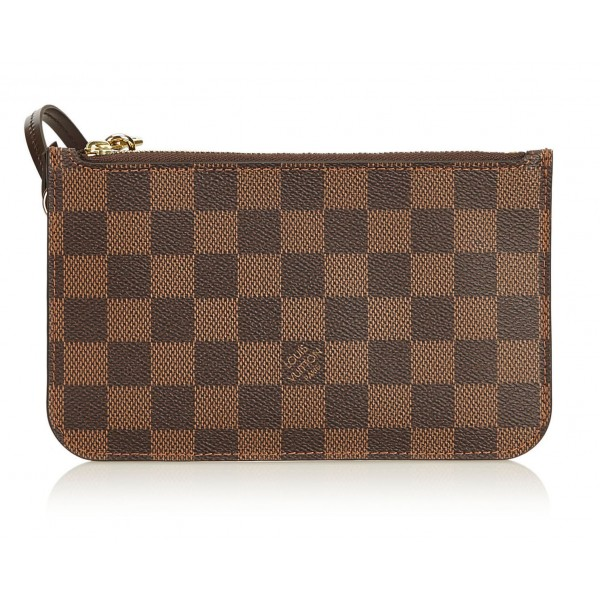 Louis Vuitton Vintage - Damier Ebene Wristlet Bag Pouch - Brown - Damier Canvas and Leather Handbag - Luxury High Quality
