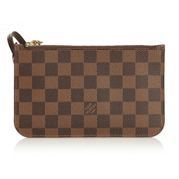 Louis Vuitton Vintage - Damier Ebene Wristlet Bag Pouch - Marrone - Borsa in Pelle e Tela Damier - Alta Qualità Luxury