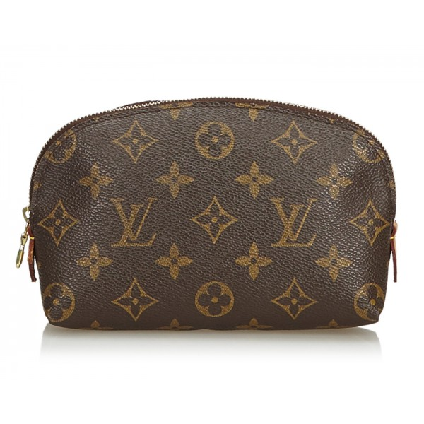 Louis Vuitton Vintage - Monogram Cosmetic Case Pouch - Marrone - Pouch in Pelle Monogram e Pelle - Alta Qualità Luxury
