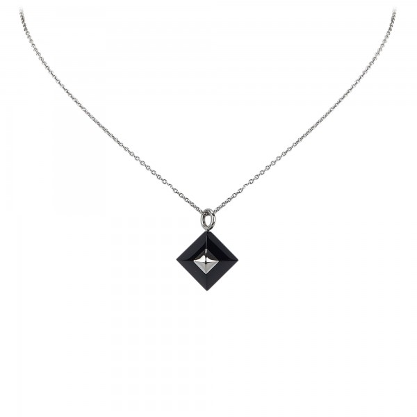 Hermès Vintage - Cupidon Pendant Necklace - Black Silver - Hermès Necklace - Luxury High Quality