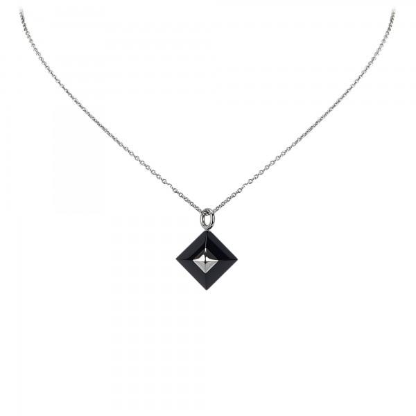 Hermès Vintage - Cupidon Pendant Necklace - Nero Argento - Collana Hermès - Alta Qualità Luxury