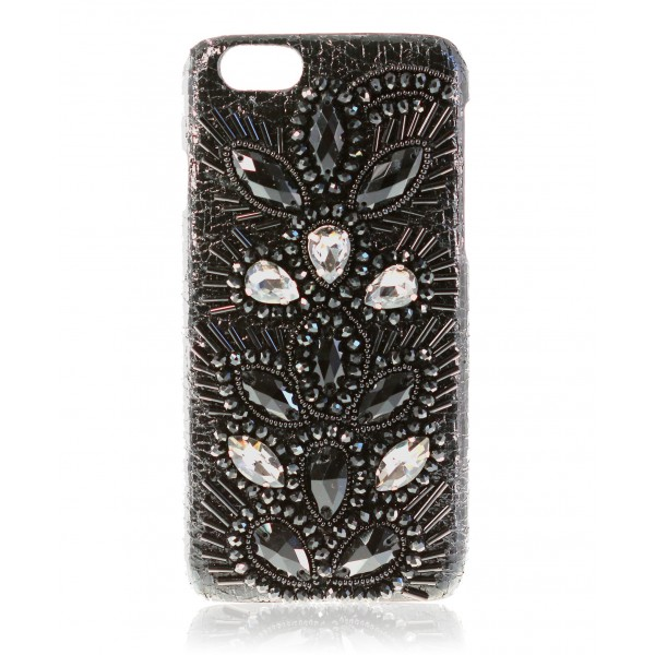 2 ME Style - Case Embroidery Black Drops - iPhone 6/6S