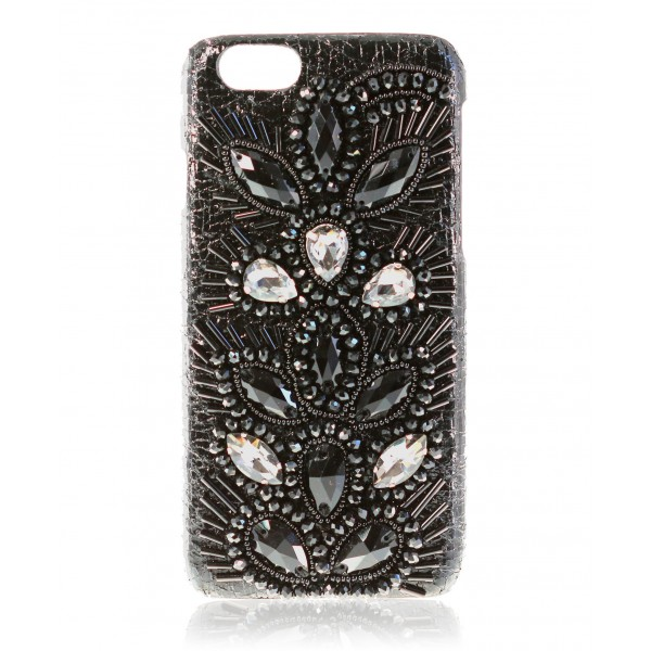 2 ME Style - Cover Embroidery Black Drops - iPhone 6/6S