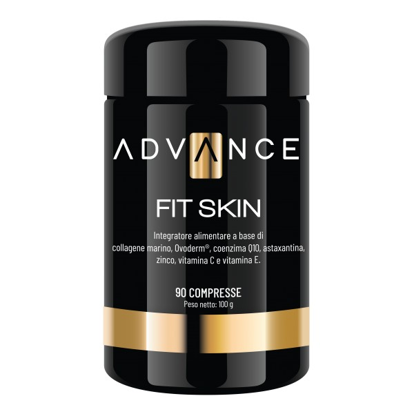Advance - Fit Skin - Repair Your Skin - Food Supplement of Collagen, Ovoderm®, Coenzyme Q10, Astaxanthin, Zinc, Vitamin C & E