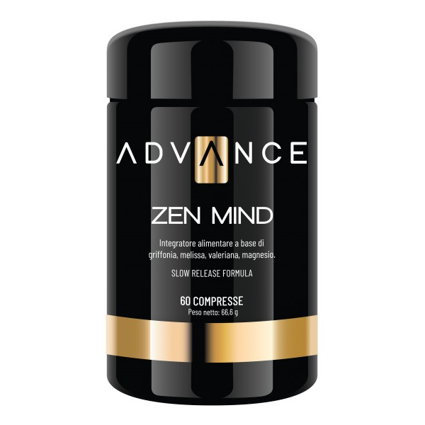 Advance - Zen Mind - Relax Your Mind - Food Supplement of Griffonia, Melissa, Valerian, Magnesium