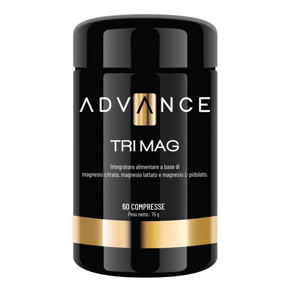 Advance - Tri Mag - Ritrova la Tua Energia - Integratore Alimentare a Base di Magnesio Citrato, Lattato e L-Pidolato