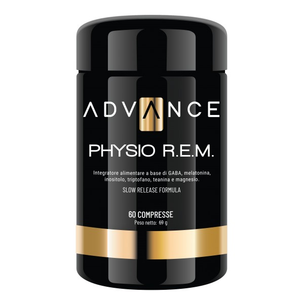 Advance - Physio R.E.M. - Control Your Sleep - Food Supplement of GABA, Melatonin, Inositol, Tryptophan, Theanine and Magnesium