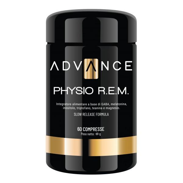 Advance - Physio R.E.M. - Controlla il Tuo Sonno - Integratore Alimentare - GABA, Melatonina, Inositolo, Triptofano, Teanina