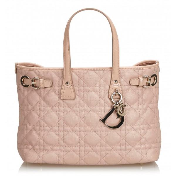 Dior Vintage - Cannage Panarea Tote Bag - Rosa - Borsa in Pelle - Alta Qualità Luxury