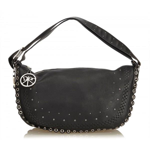 Dior Vintage - Peace and Love Hobo Bag - Nero - Borsa in Pelle - Alta Qualità Luxury