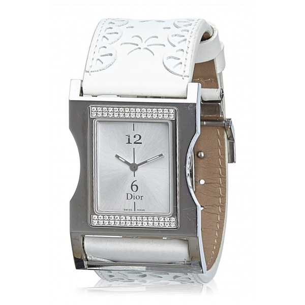 Dior Vintage - Chris 47 Watch - White Ivory - Metal and Leather DIor Watch - Luxury High Quality