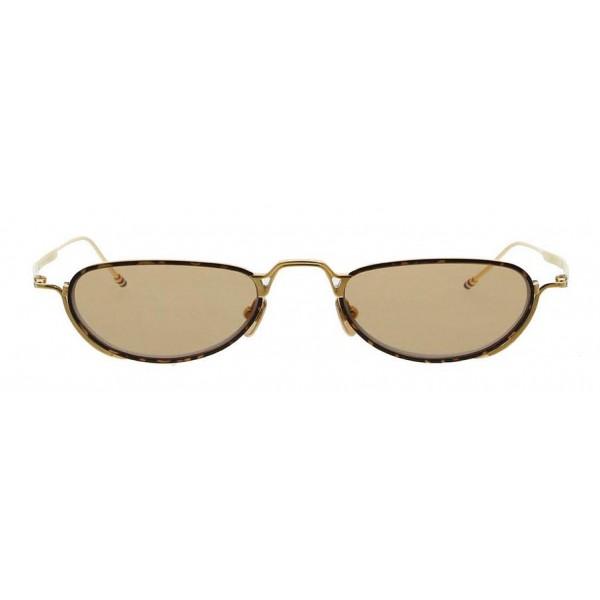 Thom Browne - Occhiali da Sole in Oro Bianco e Tartaruga - Thom Browne Eyewear