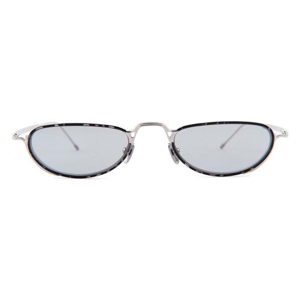 Thom Browne - Occhiali da Sole Argento e Grigio Tartaruga - Thom Browne Eyewear