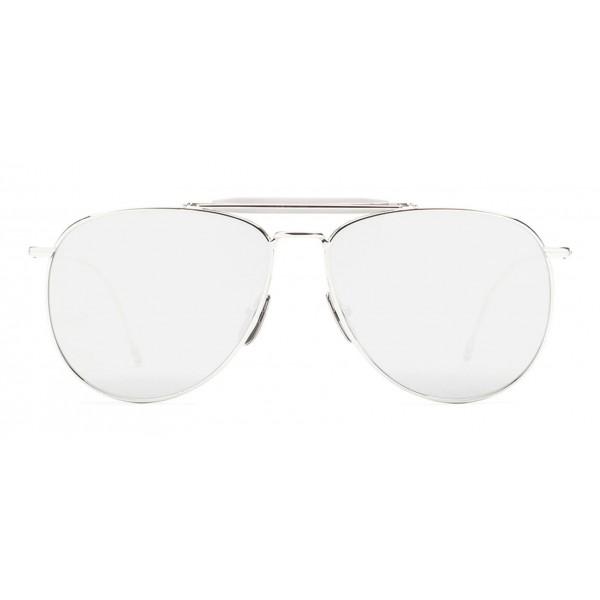 Thom Browne - Occhiali da Sole Aviator Argento - Thom Browne Eyewear