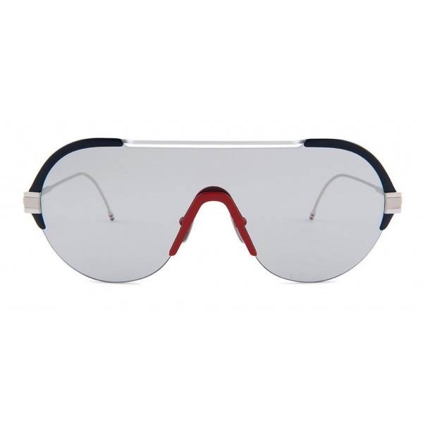 Thom Browne - Occhiali da Sole Navy, Bianco, Rosso e Argento - Thom Browne Eyewear