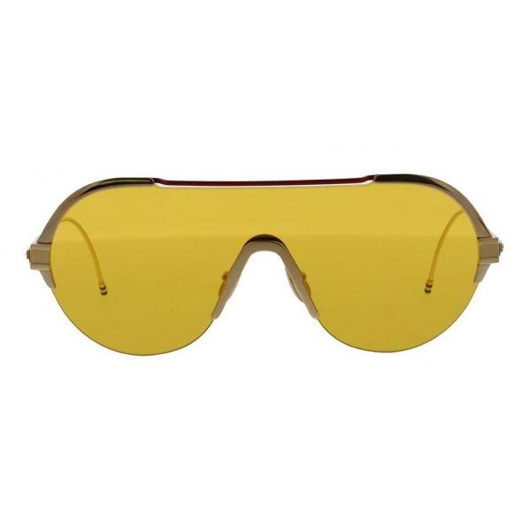 Thom Browne - Occhiali da Sole Oro Bianco, Rosso, Ambra - Thom Browne Eyewear