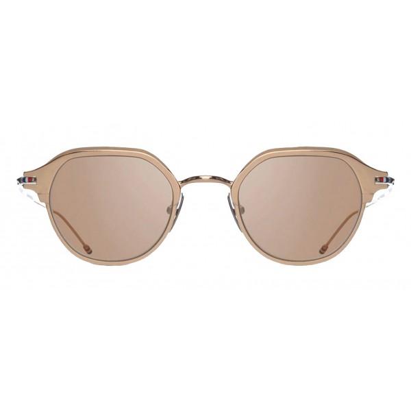 Thom Browne - Occhiali da Sole in Oro Bianco e Argento - Thom Browne Eyewear