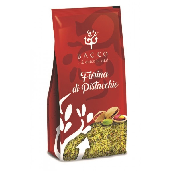 Bacco - Tipicità al Pistacchio - Farina di Pistacchio in Vaschetta - Farina - 100 g