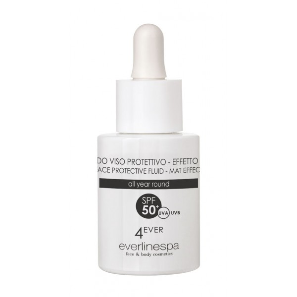 Everline Spa - Perfect Skin - Crema Viso Protettiva - Fluido - Effetto MAT SPF 50 - 4 Ever - All Year Round - Professional