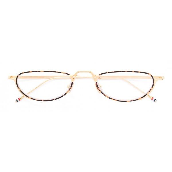 Thom Browne - Occhiali da Vista Stile Oro Bianco e Tartaruga - Thom Browne Eyewear