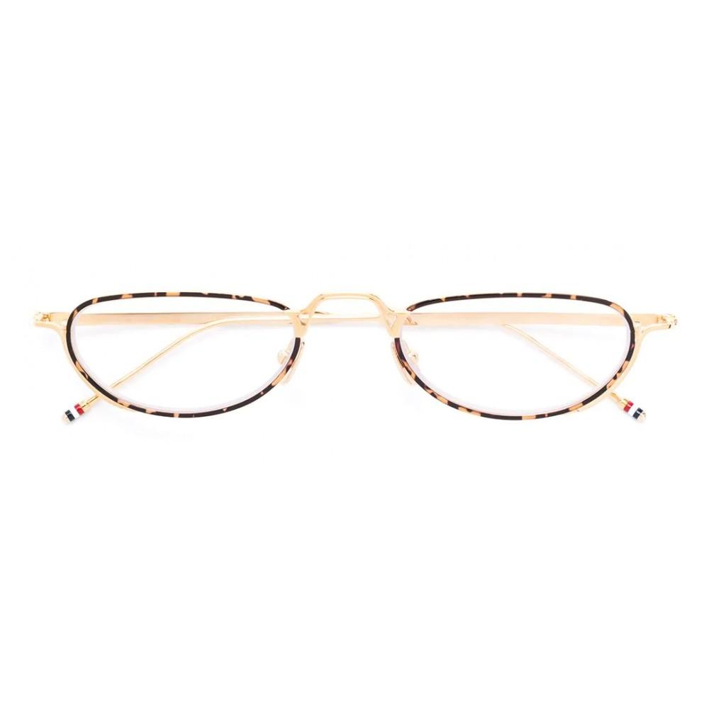 aab6266e0 Thom Browne - White Gold and Tortoise Shell Tone Optical Glasses - Thom  Browne Eyewear ...