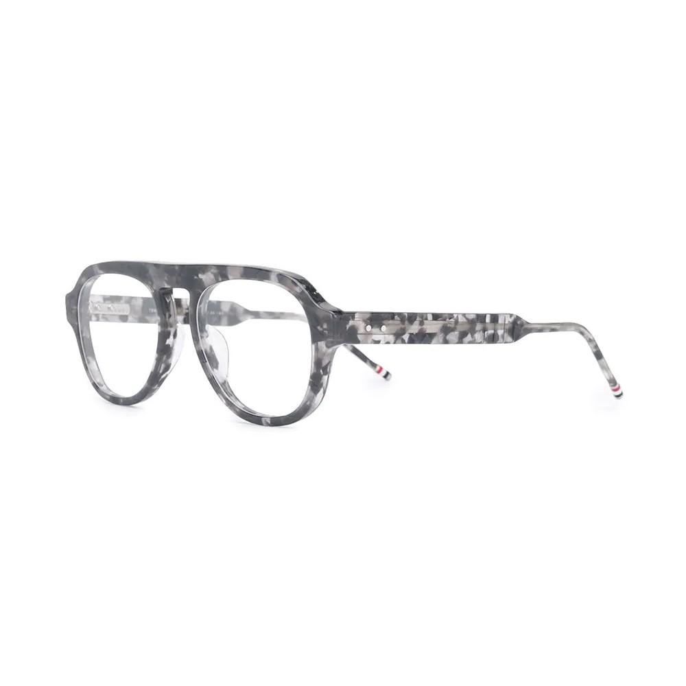 c9073563b ... Thom Browne - Grey and Tortoise Shell Tone Optical Glasses - Thom  Browne Eyewear ...