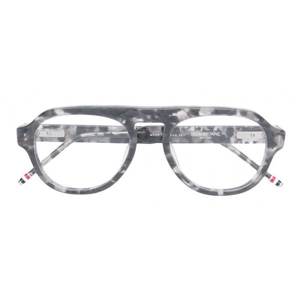 5d2e4c303 Thom Browne - Grey and Tortoise Shell Tone Optical Glasses - Thom Browne  Eyewear