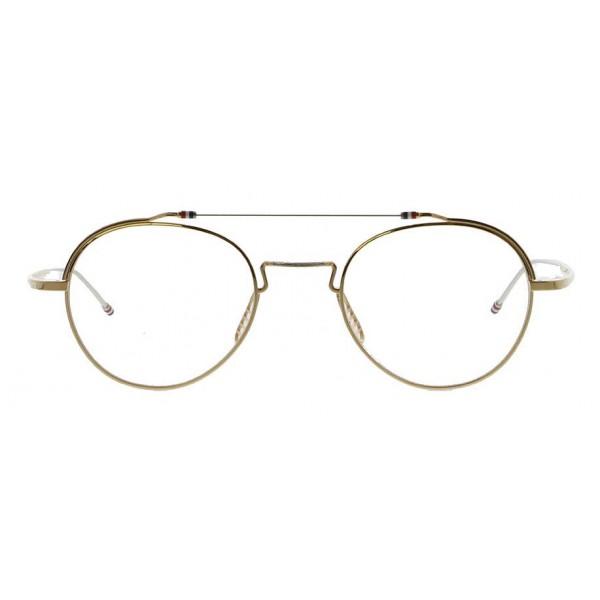 98fc82eb0 Thom Browne - White Gold and Silver Optical Glasses - Thom Browne Eyewear -  Avvenice