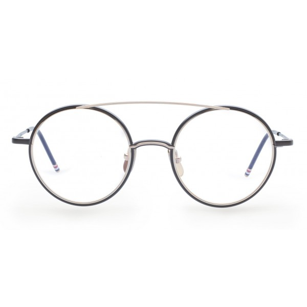 46f5308fa507 Thom Browne - Black Iron   18K Gold Optical Glasses - Thom Browne Eyewear -  Avvenice