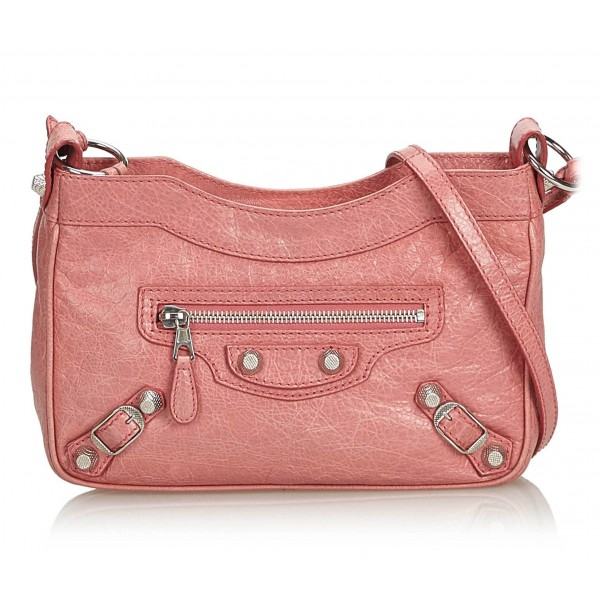 Balenciaga Vintage - Motocross Giant 12 Hip Bag - Pink - Leather Handbag - Luxury High Quality