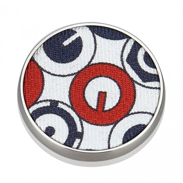 Hermès Vintage - Liverpool Brooch - White Multi - Silk and Metal Brooch - Luxury High Quality