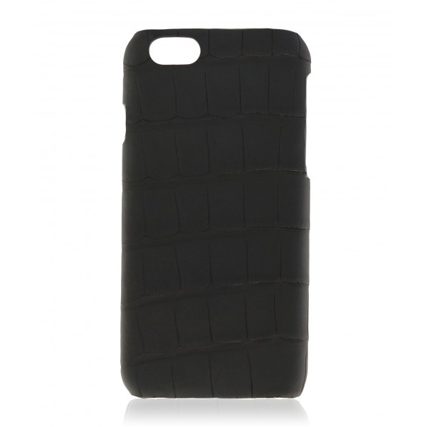 2 ME Style - Cover Croco Carbon Black - iPhone 6/6S