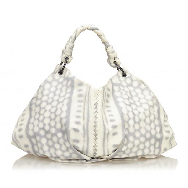 Bottega Veneta Vintage - Tie-Dye Aquilone Bag - Bianco Avorio - Borsa in Pelle - Alta Qualità Luxury