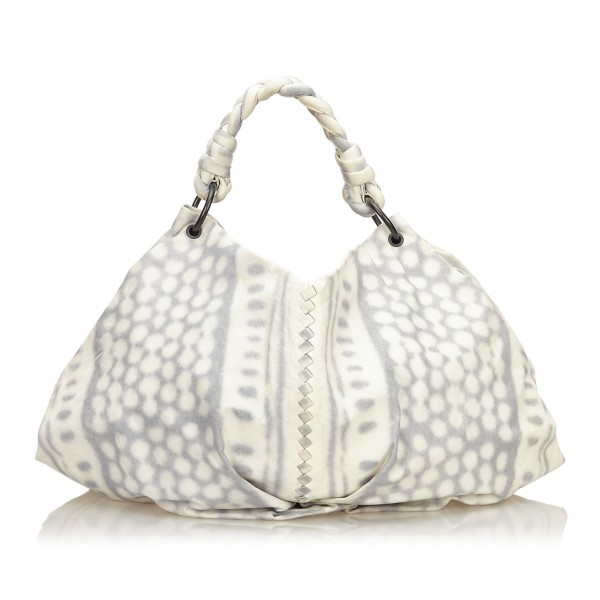 Bottega Veneta Vintage - Tie-Dye Aquilone Bag - White Ivory - Leather Handbag - Luxury High Quality