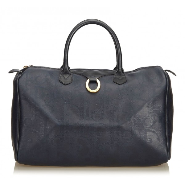 Dior Vintage - Oblique Duffle Bag - Nero - Borsa in Pelle - Alta Qualità Luxury