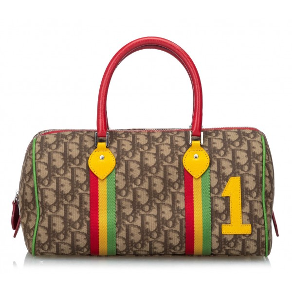 Dior Vintage - Rasta Oblique Handbag Bag - Marrone - Borsa in Pelle - Alta Qualità Luxury