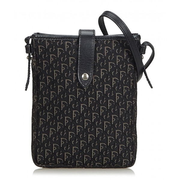 00cbc1ee28 Dior Vintage - Oblique Canvas Handbag Bag - Black - Leather and Canvas  Handbag - Luxury High Quality - Avvenice