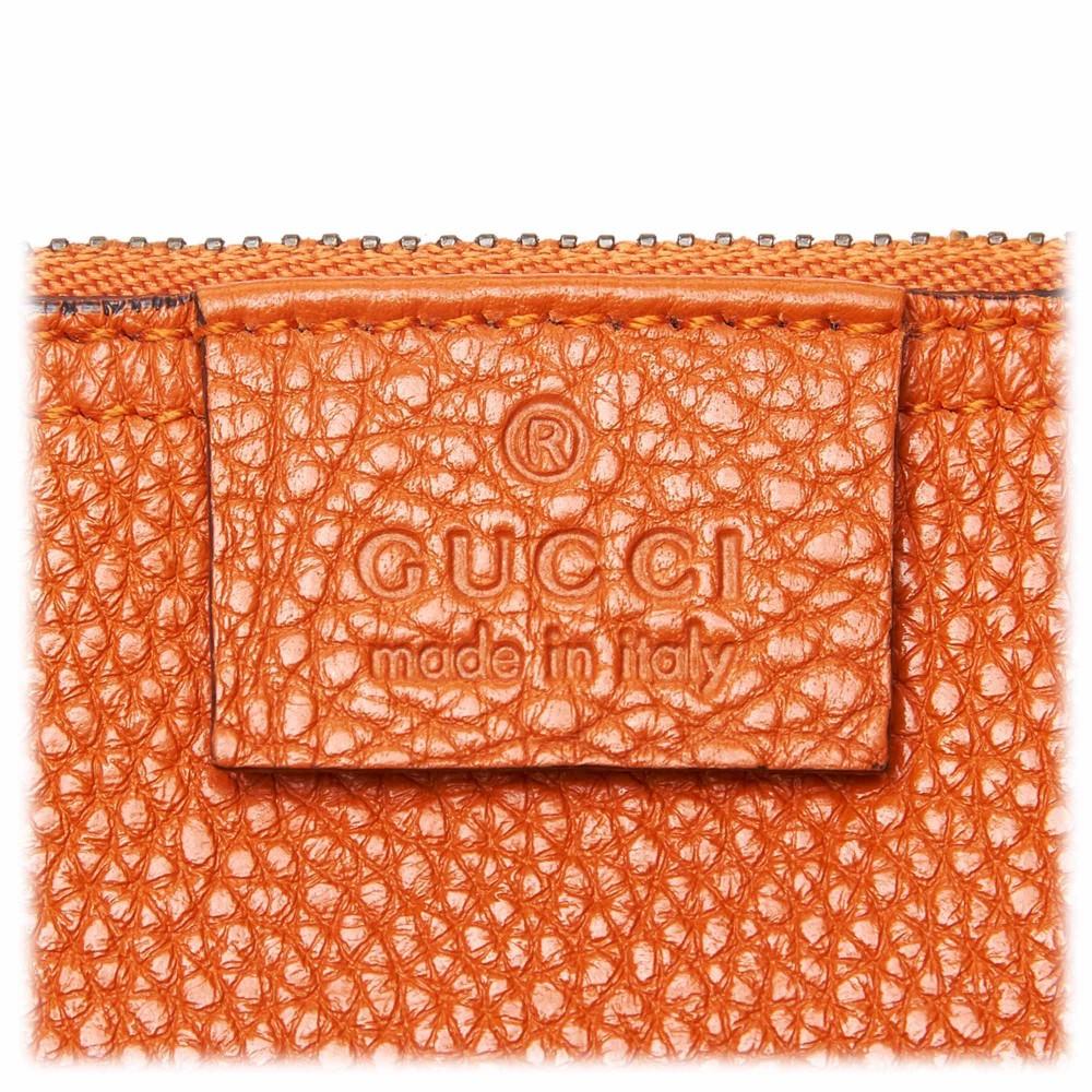 5bd7388f9ea ... Gucci Vintage - Leather New Jackie Bucket Bag - Orange - Leather Handbag  - Luxury High ...