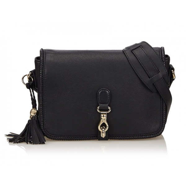 Gucci Vintage - Marrakech Messenger Bag - Nero - Borsa in Pelle - Alta Qualità Luxury
