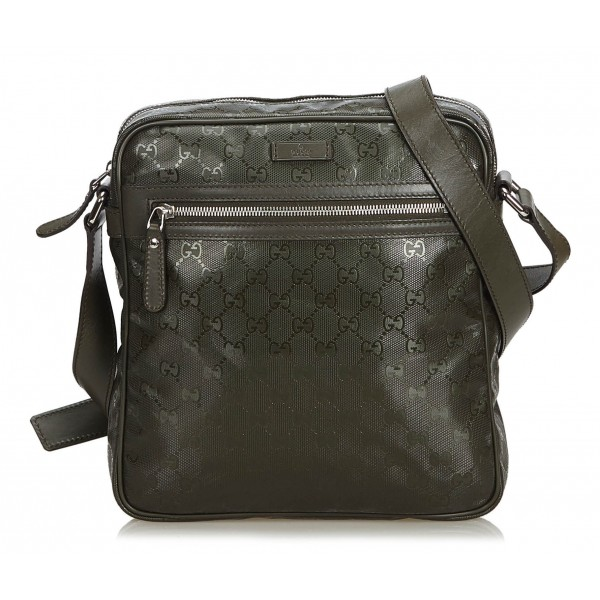 Gucci Vintage - GG Imprime Crossbody Bag - Marrone - Borsa in Pelle - Alta Qualità Luxury