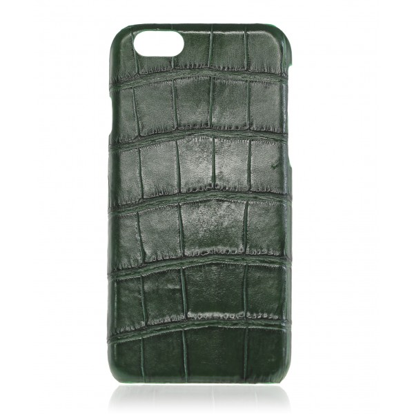 2 ME Style - Cover Croco Vert Bouteille - iPhone 6Plus