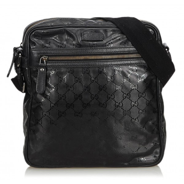 f7ff06caca7e Gucci Vintage - GG Imprime Messenger Bag - Black - Leather Handbag - Luxury  High Quality - Avvenice