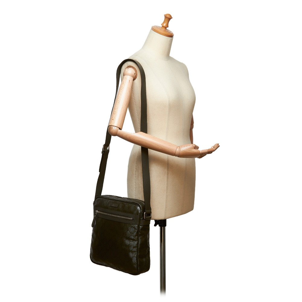 a3f97154b918 ... Gucci Vintage - GG Imprime Crossbody Bag - Brown - Leather Handbag -  Luxury High Quality