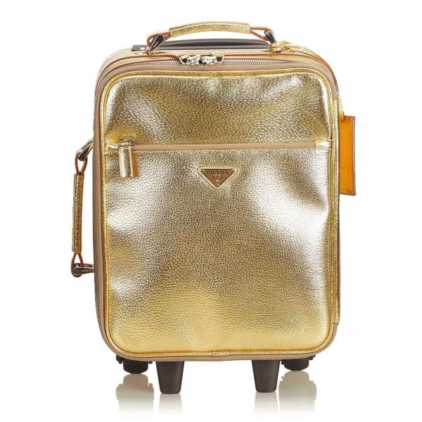 Prada Vintage - Leather Trolley - Oro - Trolley in Pelle - Alta Qualità Luxury