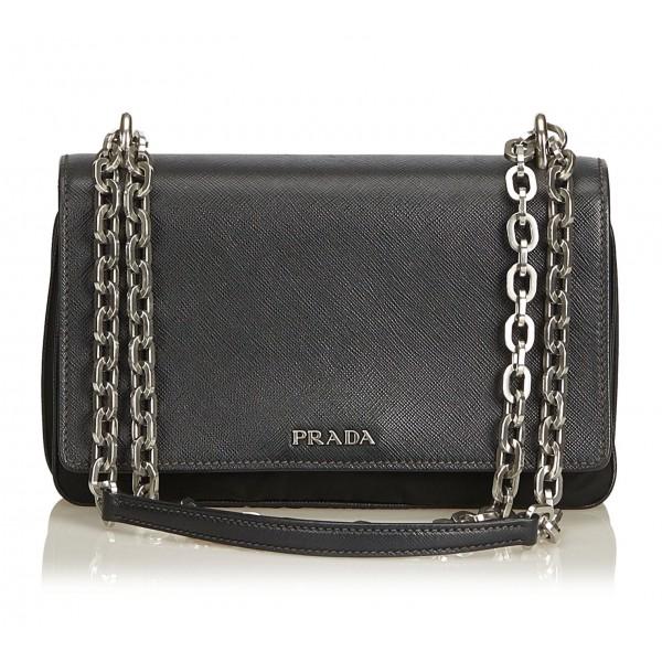 Prada Vintage - Nylon Crossbody Bag - Nero - Borsa in Pelle - Alta Qualità Luxury