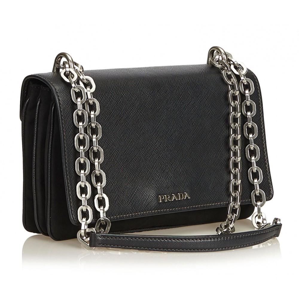576eeb04b167c5 ... Prada Vintage - Nylon Crossbody Bag - Black - Leather Handbag - Luxury  High Quality ...