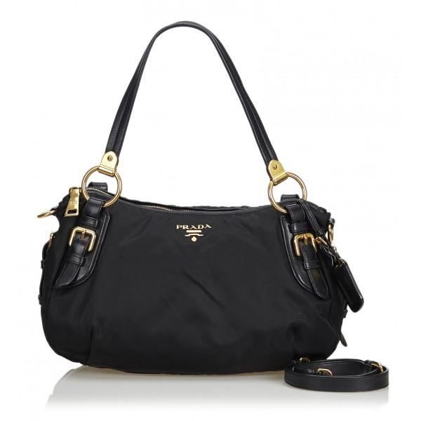 09c938f8546d Prada Vintage - Nylon Satchel Bag - Black - Leather Handbag - Luxury High  Quality - Avvenice