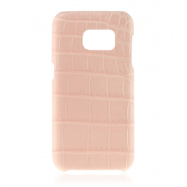 2 ME Style - Cover Croco Powder Pink - Samsung S7 Edge