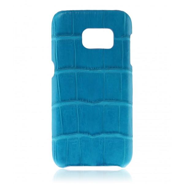 2 ME Style - Case Croco Aqua Blue - Samsung S7 Edge